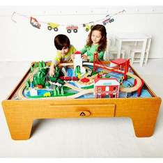ELC BIG CITY WOODEN RAIL TRAIN TABLE £75 WITH CODE FOR ONLINE CUSTOMERS ONLY