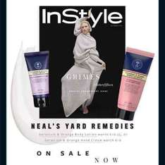 FREE Neal's Yard body lotion / hand cream worth £10/£10.75 with instyle magazine £3.99 @ Tesco