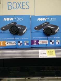 NOW TV BOX WITH 3MONTH ENTERTAINMENT PASS OR 2MONTH MOVIE PASS £15 in store @ Tesco Express