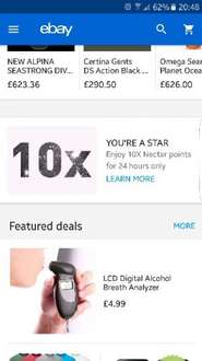 Ebay - 10x nectar points for 24 hrs (Account Specific)