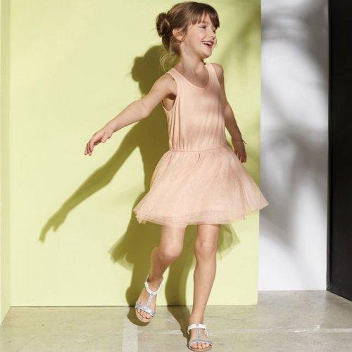 Grab a £5 Bargain in La Redoute's £5 Sale Section + Free C+C / Returns Via Parcelshop ie Girls Dual Fabric Dress now £5