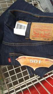 Levi 501 mens jeans.  Size 38w,  32 length only. Costco Oldham - £23.97