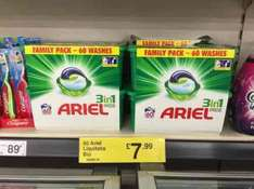 Ariel 3 in 1 washing pods 60 washes / capsules for £7.99 at Farmfoods