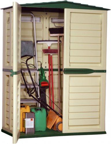Starplast 37-811 151 x 83 x 198 cm Tall Garden Shed - Green/Beige £68.11 @ Amazon