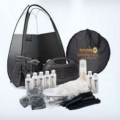 Rapidtan HVLP Airbrush Spray Tan Kit with Tent, 7x Tan Solutions & More £99 Sold by Spraytanpro and Fulfilled by Amazon.