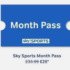 Sky Sports Month Pass reduced to £25 on Now TV