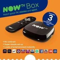 NOW TV Box with 3 month entertainment pass £15 Sainsburys