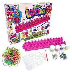 Jacks Adjustable Linko Loom with Make Your Own Air Clay Charms - 250 Loom Bands  £1.00 @ the entertainer