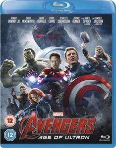 Avengers Age of Ultron Blu Ray £11.98 delivered @ The Hut