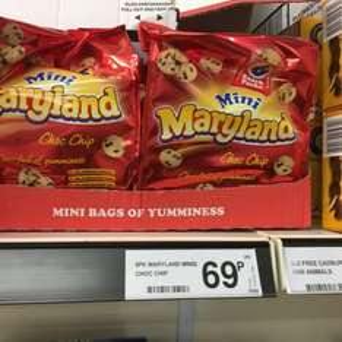 maryland mini choc chip cookies 6 pk 69p @ Farmfoods