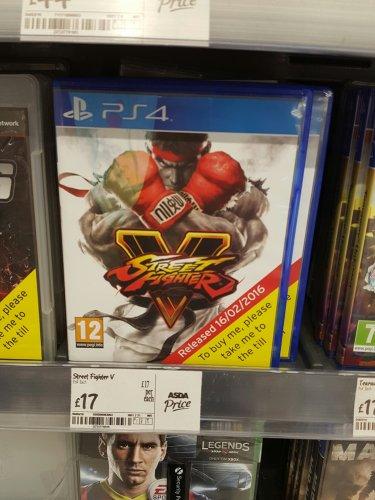 Street Fighter V PS4 £17 Asda Pilsworth