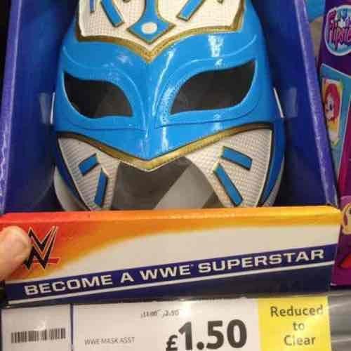 WWE Mask £1.50 Tesco Kingston Park