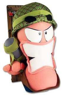"""WORMS 12"""" 30cm Large Plush Soldier ebay seller the_game_monkey £5.97"""