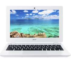 "curry's - new  ACER CB3-111 11.6"" Chromebook - White - £129.99"