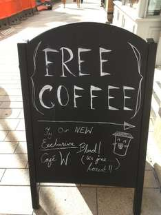 Free amazing coffee in Waterstones Hull until Monday Now!