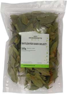 JustIngredients Premier Bay Leaves Hand Selected 100 g (Pack of 2) £1.56 @ amazon (Add on item)