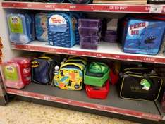 Various Lunch boxes @ Sainsburys 50p / £1