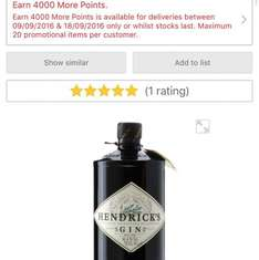 70cl Hendricks Gin £27 with 4000 More points - effectively £23 @ Morrisons