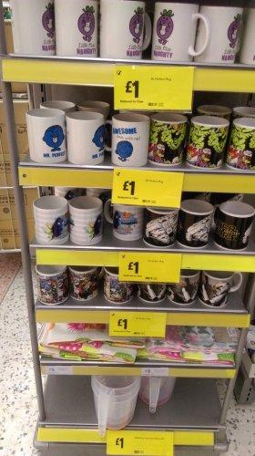 Star wars, marvel, Mr Men mugs for £1 morrisons