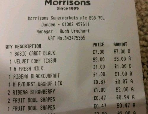 ribena strawberry or blackcurrant 850ml £1 in morrison