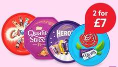 Large Celebrations, Heroes, Quality Street & Roses etc tubs - 2 for £7 @ Tesco from 14th September