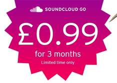 3 months of SoundCloud Go for just 99p