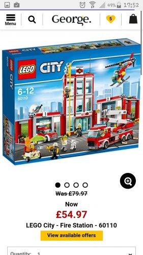 Lego firestation £44.97 @ George Asda