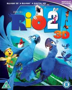 Rio 2 3D Blu Ray new £3.79 (free P&P) at Zavvi Outlet eBay