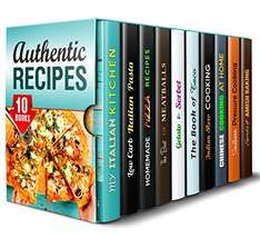 10 Books in  1   - Italian and Asian Recipes for Creative Cooking  Kindle Edition  - Free Download @ Amazon