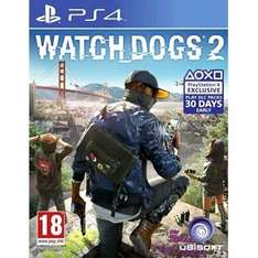 WATCH DOGS 2 pre order with code PRE5 at Smyths for £36.99