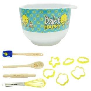 Mr Men Mr Happy 9 Piece Baking Set £1.99 @ Home Bargains in-store