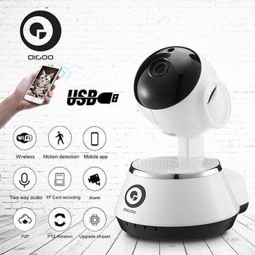 Pre Order Digoo BB-M1 Wireless WiFi USB Baby Monitor Alarm Home Security IP Camera HD 720P Audio Onvif - £14.42 @ BangGood