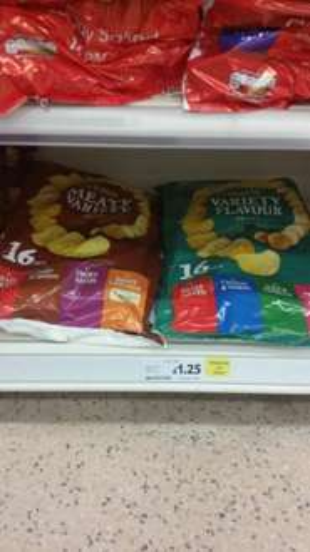 TESCO Variety Crisps rtc to £1.25 16 pack