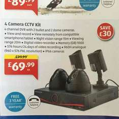 4 CCTV Camera Kit £69.99 Aldi New Store Deal: Colchester Cowdray Avenue