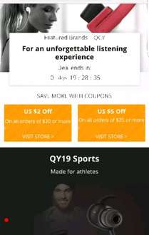QCY is the featured brand on Ali express today with fab discounts