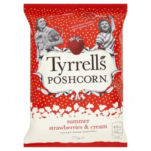 Tyrrells Strawberry & Cream Poshcorn Popcorn 75g NOW 25p @ TESCO In store