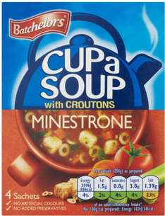 Batchelors Cup a Soup Minestrone with Croutons (4 per pack - 94g) was £1.18 now 50p @ Morrisons