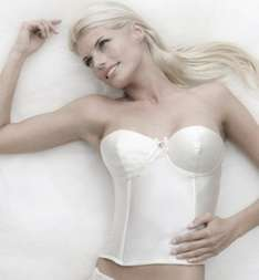 Bjem Ivory Low Back Bodice Basque Corset only £1.50 delivered ebay / monkey-shop1