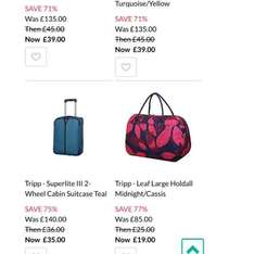 Tripp Luggage sale at Debenhams - up to 77% off!
