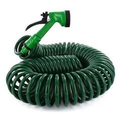 50FT 15 Metre Retractable Coil Hose Pipe Garden Reel With Water Spray Gun Nozzle £7.59 delivered bargain_world_888 / Ebay