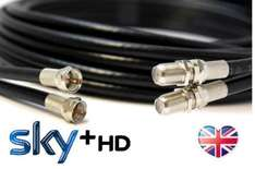 BLACKWHITE 10m TWIN Satellite Coaxial Extension Cable - suitable for Sky+ and Sky HD £5.96 delivered  rosenet999 / Ebay