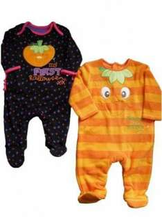 Cute Baby Halloween Pyjamas Outfit £5.70 @ eBay - baby1stop_outlet