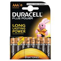 Duracell Plus Power 8x AAA Batteries £1.96 @ Toys R Us