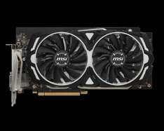 MSI GeForce GTX 1060 ARMOR 6G OC  £221.53 delivered morecomputers