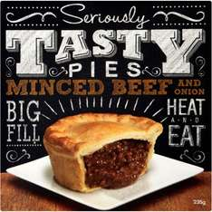 Seriously Tasty Minced Beef & Onion Pie (235g) ONLY £1.00 @ Asda