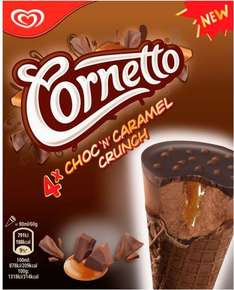 Cornetto Ice Cream Cones Choc 'n' Caramel Crunch (4 x 90ml) was £2.50 now £1.50 @ Sainsbury's
