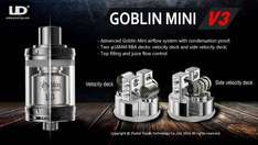 UD Goblin Mini V3 RTA Tank inc 4ml adapter. £26.06 Delivered Totally Wicked.
