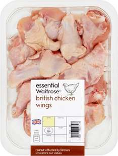 British Chicken Wings from essential Waitrose (475g) was £1.87 now 93p @ Ocado