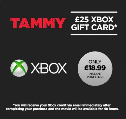 £25 Xbox Gift card for £18.99 + Tammy Rental @ Wuaki