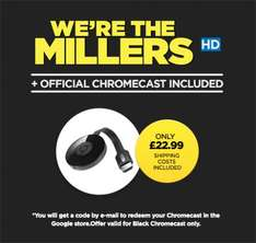 Chromecast & We`re The Millers Movie @ Wuaki for £21.99